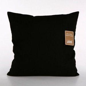Altom Obliečka na vankúš  Black, 40 x 40 cm