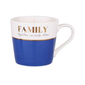 Altom Porcelánový hrnček 350 m, Family blue