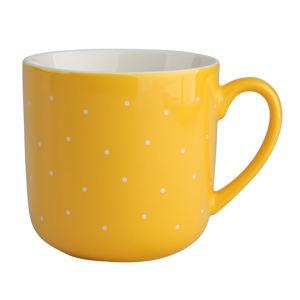Altom Sada porcelánových hrnčekov Bodka 300 ml, 6 ks, žltá