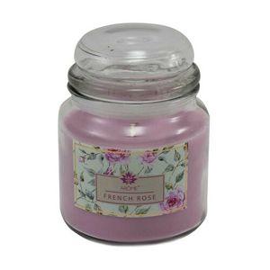 Arome Veľká vonná sviečka v skle French Rose, 424 g
