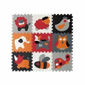 Baby Great Penové puzzle Zvieratá sivá-červená SX (30x30)