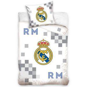 Carbotex Bavlnené obliečky Real Madrid Dados Grey, 140 x 200 cm, 70 x 90 cm