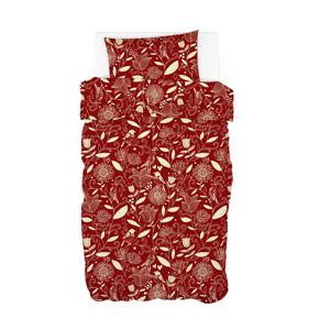 Bavlnené obliečky Velvet Spring červená, 140 x 200 cm, 70 x 90 cm