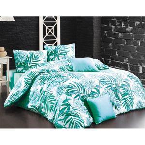 BedTex Bavlnené obliečky Amazing morsky zelená , 220 x 200 cm, 2 ks 70 x 90 cm