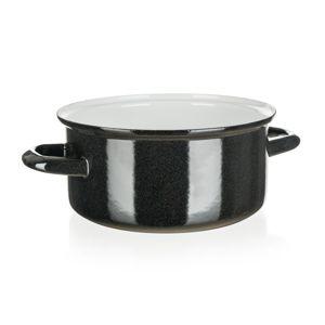 Belis Smaltovaný kastról Standard 20 cm, čierna