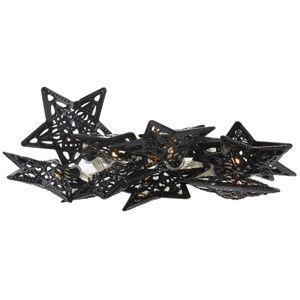 Dekoračná svietiaca LED reťaz Stars, černá