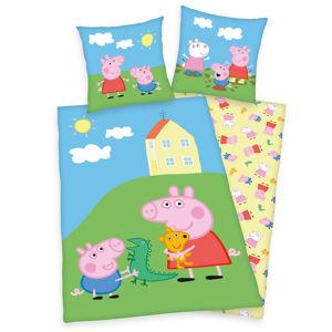 Herding Detské bavlnené obliečky Peppa Pig Play, 140 x 200 cm, 70 x 90 cm