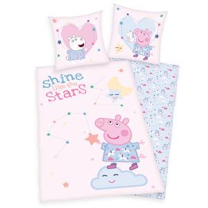 Herding Detské bavlnené obliečky Peppa Pig Shine like the stars, 140 x 200 cm, 70 x 90 cm