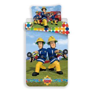 Detské bavlnené obliečky Požiarnik Sam colours 140 x 200 cm, 70 x 90 cm