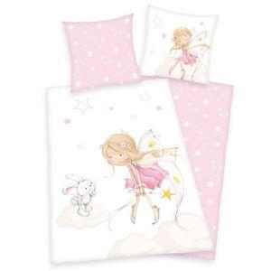 Herding Detské bavlnené obliečky Víla a zajačik, 140 x 200 cm, 70 x 90 cm
