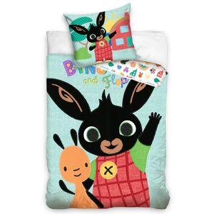 Tiptrade Detské bavlnené obliečky Zajačik Bing a Flop, 140 x 200 cm, 70 x 90 cm