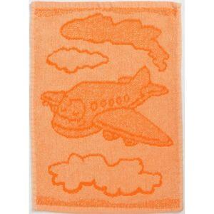 Profod Detský uterák Plane orange, 30 x 50 cm