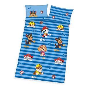 Herding Detské bavlnené obliečky do postieľky Tlapková Patrola blue, 100 x 135 cm, 40 x 60 cm