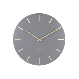 Karlsson 5716GY Dizajnové nástenné hodiny pr. 45 cm