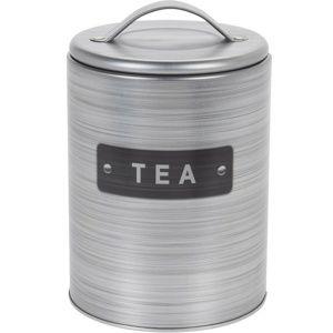 Koopman Plechová dóza na čaj, strieborná