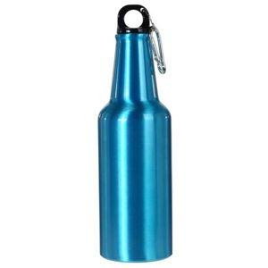 Koopman Športová hliníková fľaša s uzáverom 600 ml, modrá