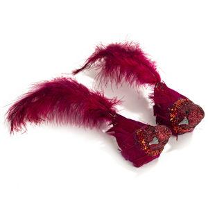 Koopman Vianočná dekorácia Birds 2 ks, červená