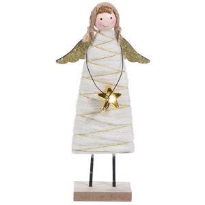 Koopman Vianočný anjel Berenice zlatá, 23 cm