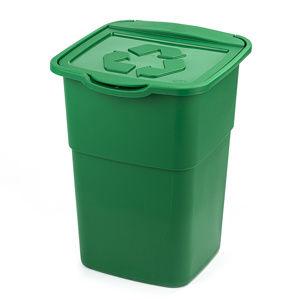 Kôš na triedený odpad Eco Master 50 l, zelená