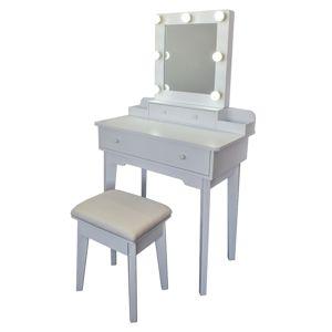 Kozmetický stolík so zrkadlom Vanessa, 75 x 40 x 130 cm