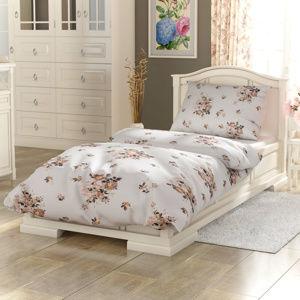 Kvalitex Bavlnené obliecky Provence Adél béžová, 140 x 220 cm, 70 x 90 cm