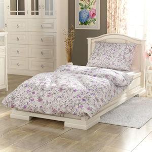 Kvalitex Bavlnené obliečky Provence Beáta fialová, 140 x 200 cm, 70 x 90 cm