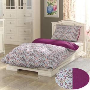 Kvalitex Bavlnené obliečky Provence Narista purpurová, 240 x 220 cm, 2 ks 70 x 90 cm