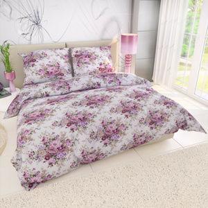 Kvalitex Krepové obliečky Ester ružová, 240 x 200 cm, 2 ks 70 x 90 cm