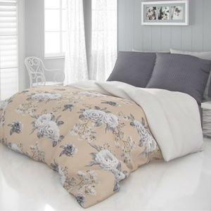 Kvalitex Saténové obliečky Luxury Collection Kenzo béžová, 220 x 200 cm, 2 ks 70 x 90 cm