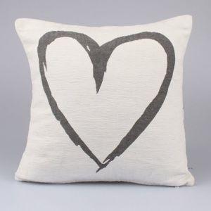 Dakls Obliečka na vankúšik Heart biela, 40 x 40 cm