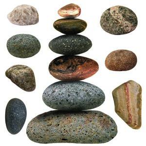 Samolepiaca dekorácia Stones, 30 x 30 cm