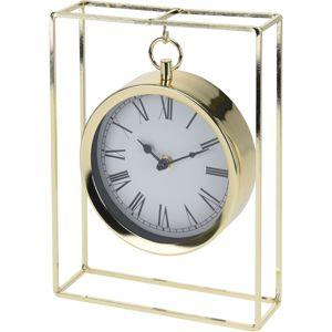 Stolné hodiny Erada zlatá, 18,8 x 5,8 x 25 cm
