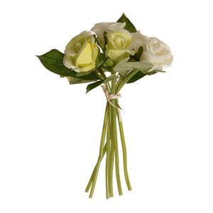 Umelá kytice pukov ruže béžová, 22 cm