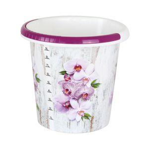 Vedro s dekorom 10 litrov, orchidea