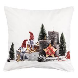 BO-MA Trading Vánoční povlak na polštářek Adventní svícen, 40 x 40 cm