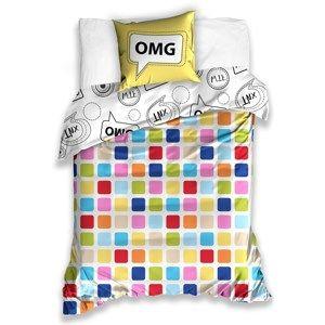 BedTex Bavlnené obliečky OMG, 140 x 200 cm, 70 x 90 cm
