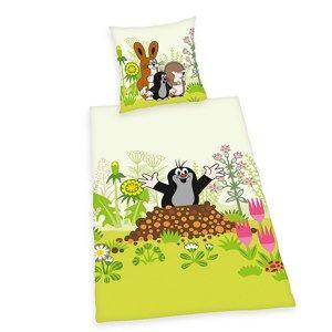 Herding Detské bavlněné obliečky do postieľky Krtko, 100 x 135, 40 x 60 cm
