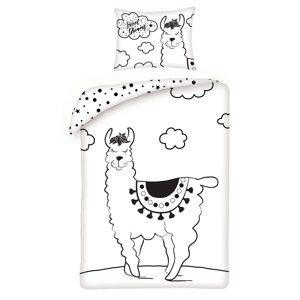 Halantex Detské bavlnené obliečky Lama, 140 x 200 cm, 70 x 90 cm