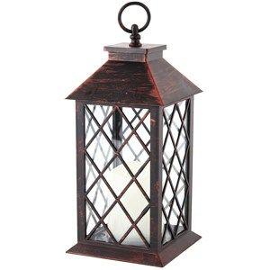 Lampáš s LED sviečkou Costola, čierna