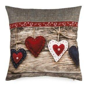 BO-MA Trading Obliečka na vankúšik Christmas Heart, 40 x 40 cm