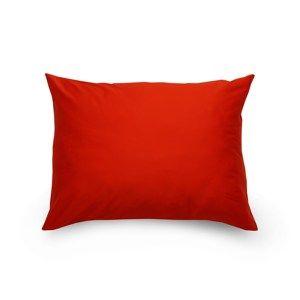 Kvalitex Obliečka na vankúš satén červená / smetanová, 70 x 90 cm