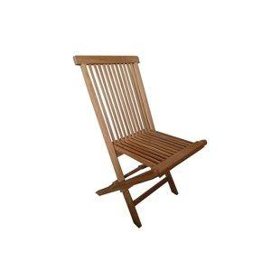 Skladacia záhradná stolička Clasic, teak