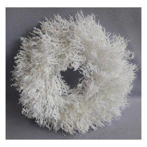 Vianočný veniec Saria biela, pr. 30 cm